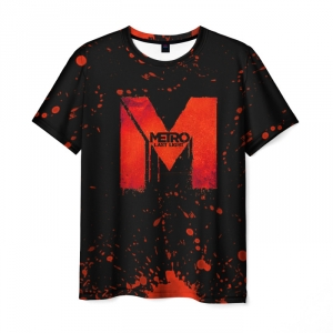 Merch Men T-Shirt Metro 2033 Last Light Logo Black