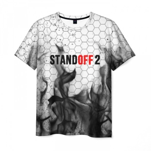 Merch Standoff 2 Black Flame Men T-Shirt Hexagons