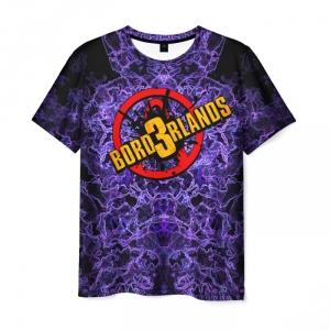 Merch Men T-Shirt Borderlands Purple Void