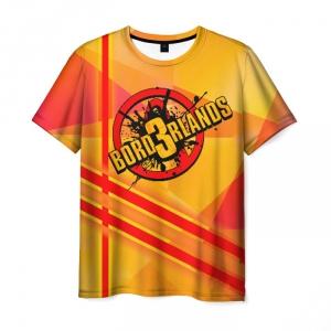 Merch Borderlands Red Stripes Men T-Shirt Orange