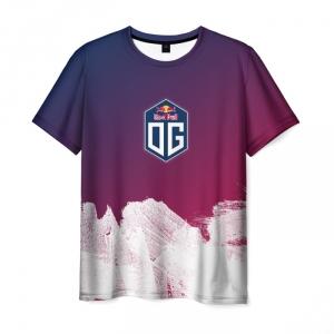 Merchandise Dota 2 Og Team Men T-Shirt White Smears