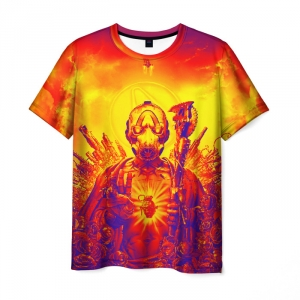 Merch Men'S T-Shirt Game Borderlands Orange Design