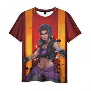 Merch Men'S T-Shirt Girl Borderlands Brown Print
