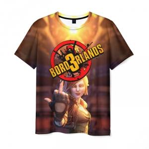 Merch Men'S T-Shirt Borderlands Girl Fuck Print