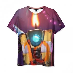 Merch Men'S T-Shirt Borderlands Flame Picture Game