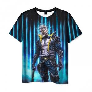Merch Men'S T-Shirt Borderlands Black Hero Print
