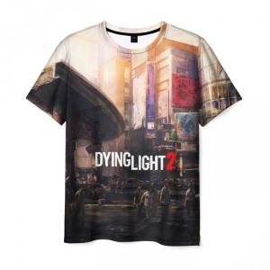 Merchandise Men'S T-Shirt Print Landscape Dying Light Design