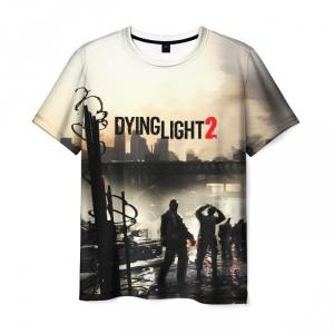 Merchandise Men'S T-Shirt Logo Text Print Dying Light
