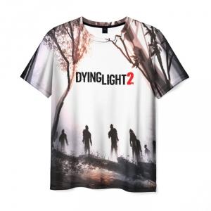 Merchandise Men'S T-Shirt White Logo Game Dying Light