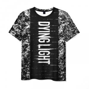 Merchandise Men'S T-Shirt Title Black Dying Light Gme Print