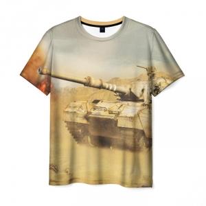 Collectibles Men'S T-Shirt World Of Tanks White Print Design