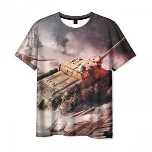 Collectibles Men'S T-Shirt World Of Tanks Scene War Design
