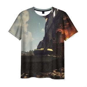 Collectibles Men'S T-Shirt World Of Tanks Game Design War Scene
