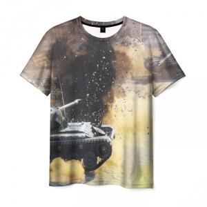 Collectibles Men'S T-Shirt Tanks Battle Print World Of Tanks