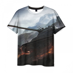 Collectibles Men'S T-Shirt World Of Tanks Mountains