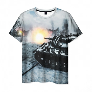 Collectibles Men'S T-Shirt World Of Tanks Image Footage Print