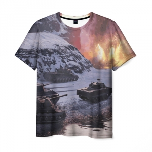 Collectibles Men'S T-Shirt World Of Tanks Game Picture Scene