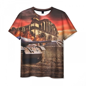 Collectibles Men'S T-Shirt World Of Tanks Picture Print