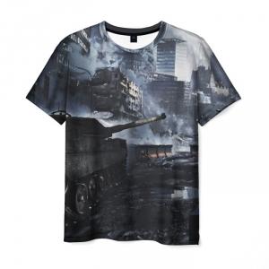 Collectibles Men'S T-Shirt War World Of Tanks Scene Image