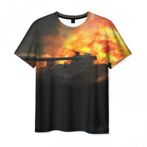 Collectibles Men'S T-Shirt World Of Tanks Fire War Print