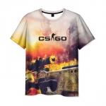 Merch Mens T-Shirt Game Dragon Lore Print Counter Strike