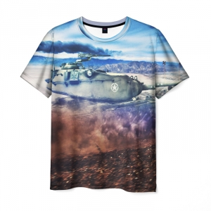 Collectibles Men'S T-Shirt World Of Tanks Landscape Print