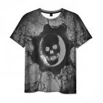 Collectibles Mens T-Shirt Gears Of War 5 Skull Grey Image