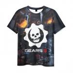 Merchandise Mens T-Shirt Gears Of War 5 Emblem Print