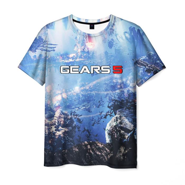 Collectibles Men'S T-Shirt Game Gears Of War 5 Landscape Print