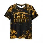 Merch Mens T-Shirt Stalker Title Game Design Logo