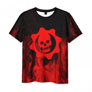 Merchandise Men'S T-Shirt Black Gears Of War 5 Game Design Print