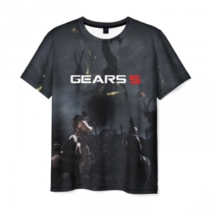 Merchandise Men'S T-Shirt Game Gears Of War 5 Grey Print