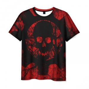 Merchandise Men'S T-Shirt Gears Of War 5 Black Skull Image