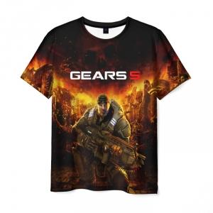 Merchandise Men'S T-Shirt Design Gears Of War 5 Black