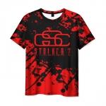 Collectibles Men'S T-Shirt Stalker Red Logo Design