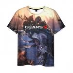 Merchandise Mens T-Shirt Gears Of War 5 Scene Print Design