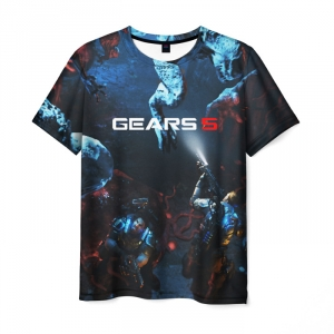 Merchandise Men'S T-Shirt Gears Of War 5 Game Print Design