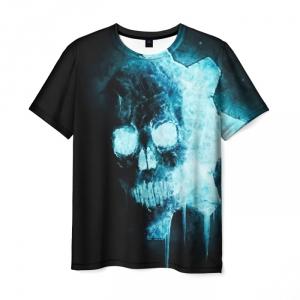 Merchandise Men'S T-Shirt Gears Of War Skull Print Black
