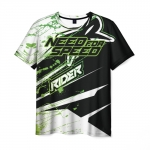 Merchandise Men'S T-Shirt Need For Speed Text Rider Print