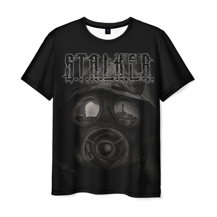 Merch Men'S T-Shirt Black Stalker Face Hero Print