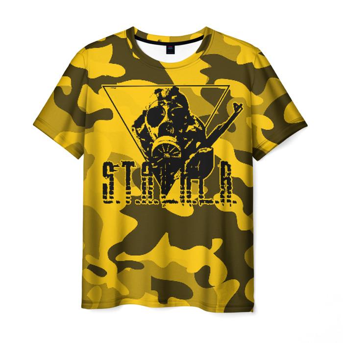 Merchandise Men'S T-Shirt Yellow Print Stalker Game