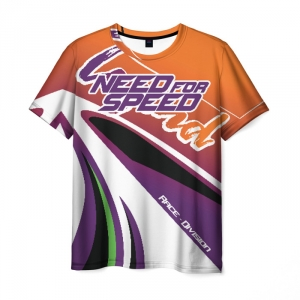 Merch Men'S T-Shirt Need For Speed Title Game Print