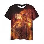 Merch Mens T-Shirt Print Winner Girl Pubg Black