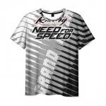 Merch Men'S T-Shirt Need For Speed Stripes Print