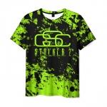 Collectibles Men T-Shirt Stalker Green Print Title