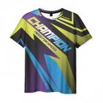 Merch Men T-Shirt Need For Speed Text Champion Print
