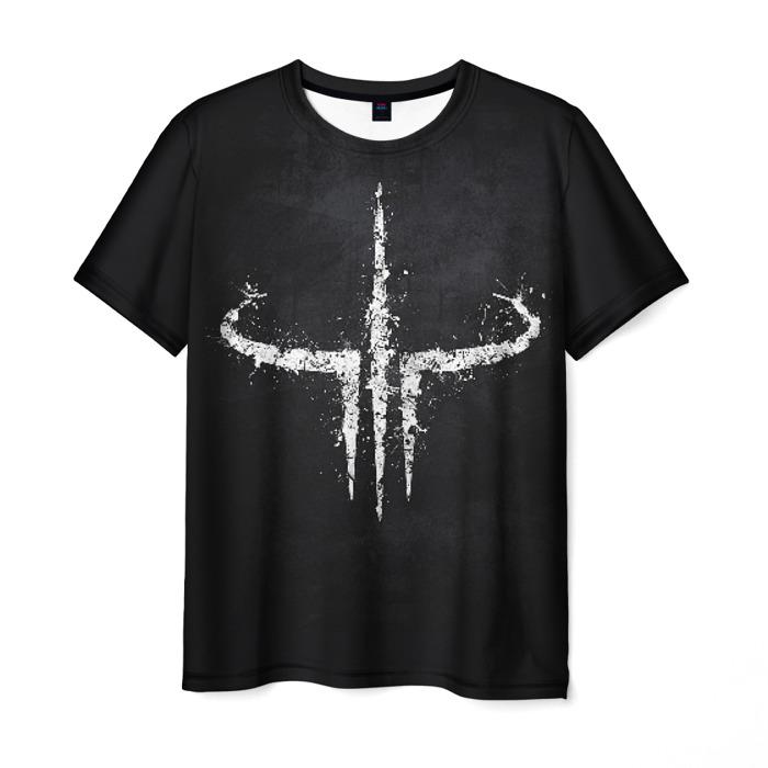 Collectibles Men T-Shirt Quake Game Logo Black Tee