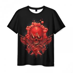 Merchandise Men T-Shirt Black Design Game Gears Of War
