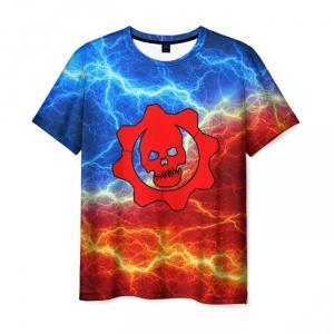 Merchandise Men T-Shirt Gears Of War Flames Flash Print