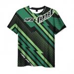 Merchandise Men T-Shirt Need For Speed Green Print Game